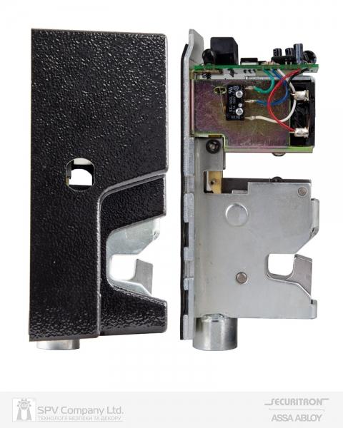 Фото 2 - Замок электромеханический SECURITRON GL-1 UNIV SOL 12V NC CYL 2KEY SL/SW GATE накладной.