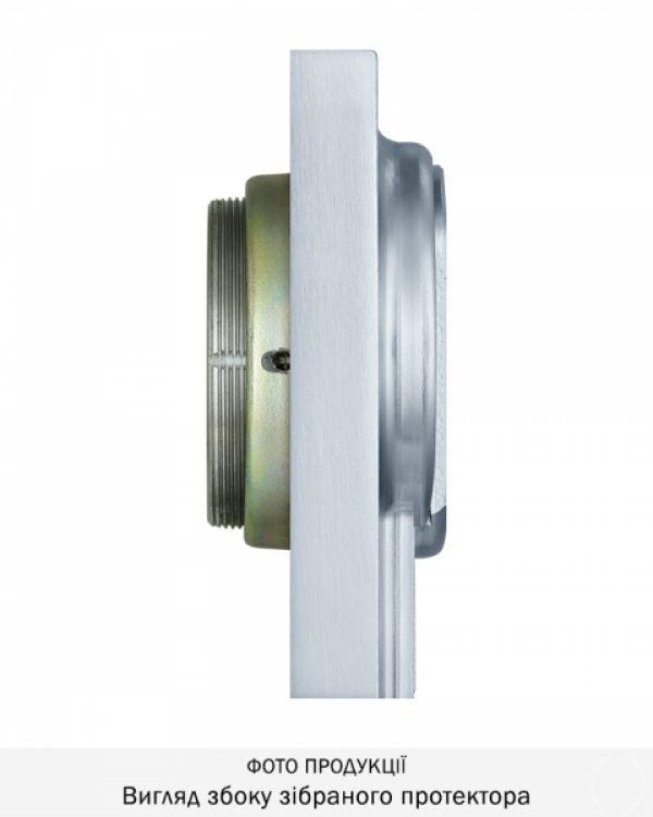 Фото 6 - Протектор DISEC MAGNETIC 4G MG3551Q DIN SQUARE 25мм Хром мат T 3KEY KM0P55 Внешний.