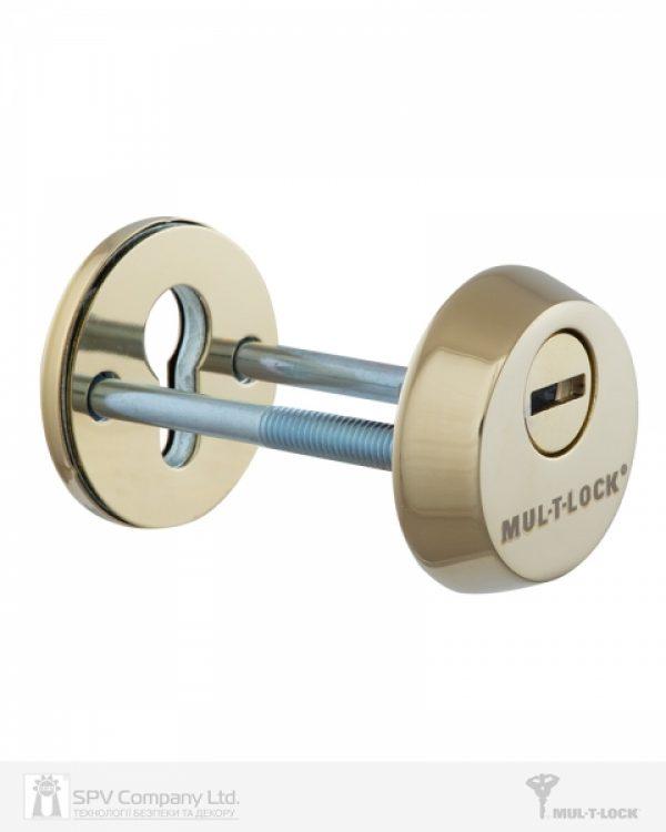Фото 6 - Протектор MUL-T-LOCK SL3 DIN ROUND 14,5 мм 48-53мм Латунь полірована 3клас SHINY BRASS Комплект, М8х65.