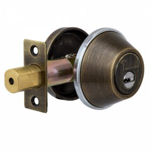 Фото 21 - Замок врезной MUL-T-LOCK 1-WAY DEAD BOLT DBM ANTIQUE BRONZE UNIV ВЅ60мм *ClassicPro 3KEY DND3D PURPLE INS 4867 SP.