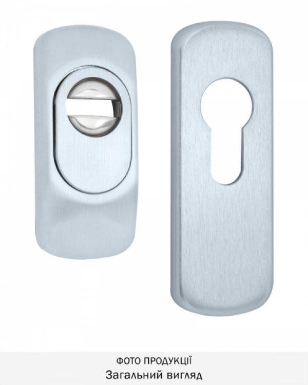 Фото 1 - Протектор DISEC GUARD SG16 DIN FOR WINDOW OVAL 25мм Хром мат 3клас T Комплект.