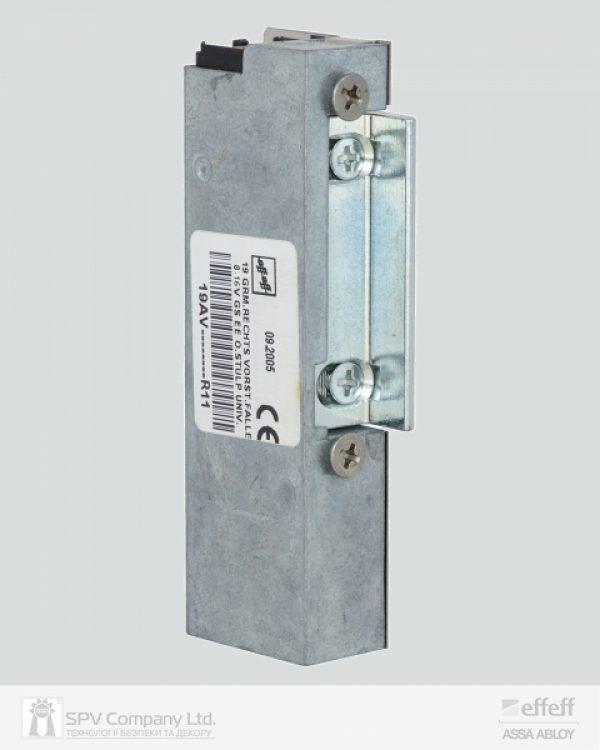 Фото 10 - Защелка электромеханическая EFF EFF 19 AV    R11 FaFix (W/O SP 8-16V) НЗ для профильных дверей.