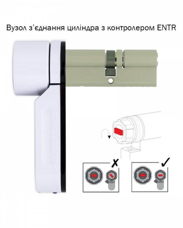 Фото 6 - Электронный контроллер MUL-T-LOCK ENTR белый с Fingerprint доступ по отпечаткам пальца + код.