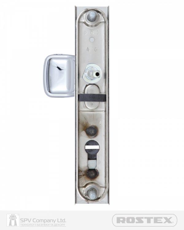 Фото 9 - Фурнитура защитная ROSTEX R1/R4 R fix-mov DIN PLATE 92мм Хром полірований 22мм 38-55мм 3клас Hranate/804 CR Комплект.
