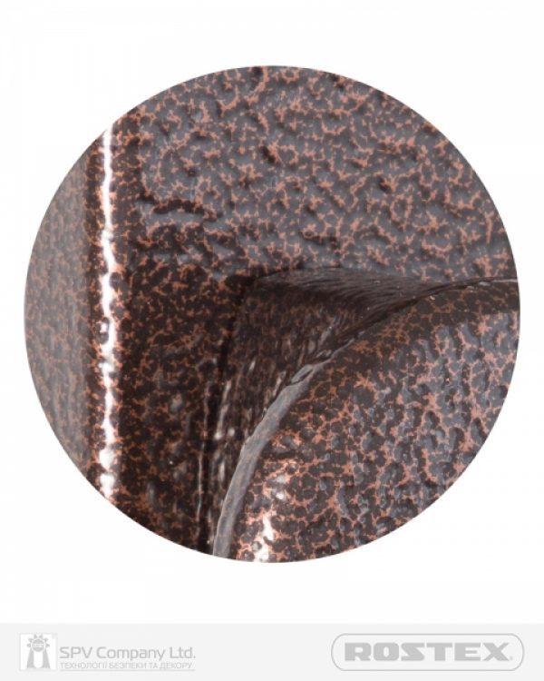 Фото 3 - Фурнитура защитная ROSTEX 802 R fix-mov PZ PLATE 72мм Фарба коричнева антік 40-45мм 3клас Knob/804 BROWN Комплект.