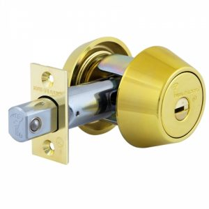 Фото 13 - Замок врезной MUL-T-LOCK 1-WAY DEAD BOLT HERCULAR SHINY BRASS UNIV BS60/70мм *INTERACTIVE+ VIP CONTROL 2KEY+3KEY DND3D BLUE INS 264S+ wood door SP.