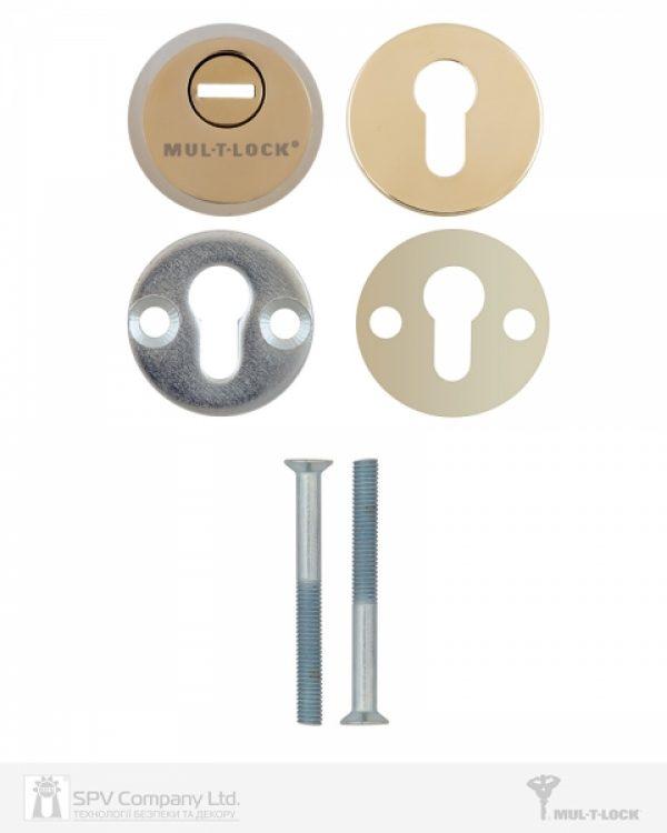 Фото 2 - Протектор MUL-T-LOCK SL3 DIN ROUND 14,5 мм 58-63мм Латунь полірована 3клас SHINY BRASS Комплект, М8х75.