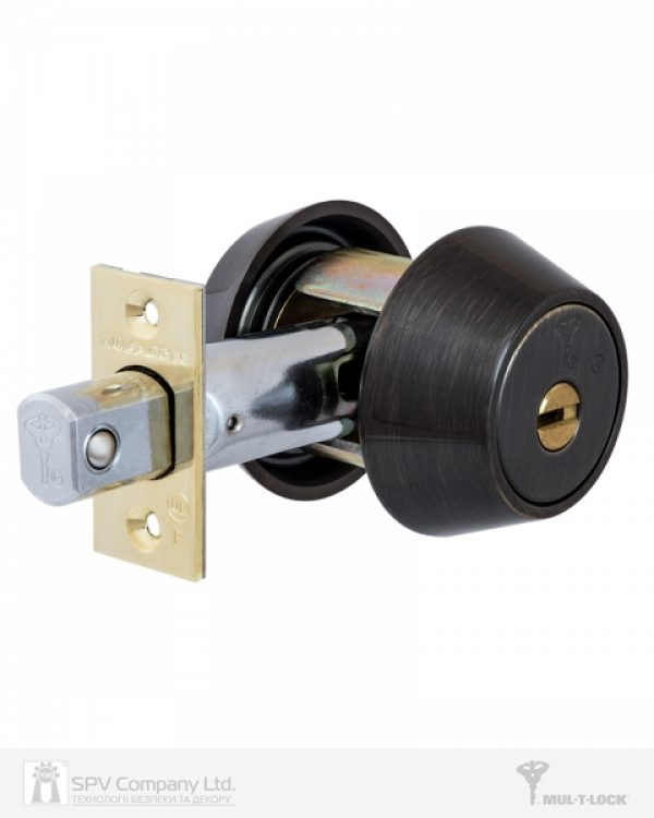 Фото 4 - Замок врезной MUL-T-LOCK 1-WAY DEAD BOLT HERCULAR ANTIQUE BRONZE UNIV BS60/70мм *MT5+ 3KEY DND2C B/S 948B wood door SP.