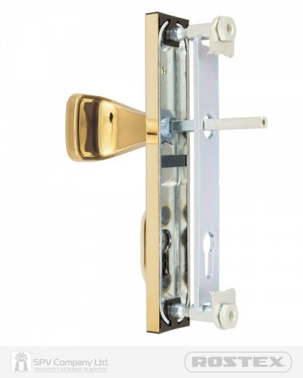 Фото 2 - Фурнитура защитная ROSTEX R1/R4 R fix-mov DIN PLATE 72мм Титан PVD 22мм 38-55мм 3клас Hranate/804 TI Комплект.