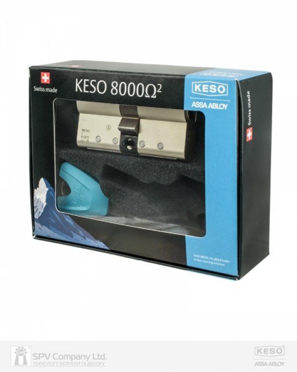 Фото 3 - Цилиндр KESO DIN_MOD_KK B 8000_Ω2 100 NM 50x50 CAM30 3KEY TR_PETROL_LONG_38mm 1828 BOX.