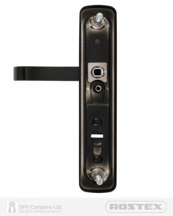 Фото 9 - Фурнитура защитная ROSTEX *ASTRA R mov-mov DIN PLATE 90мм Фарба чорна 22мм 38-55мм 3клас Astra BLACK MAT Комплект.