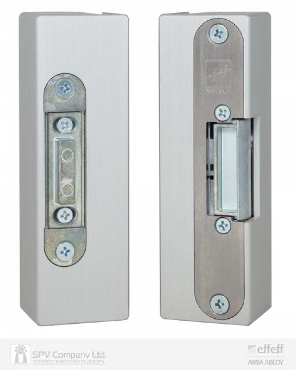 Фото 1 - Защелка электромеханическая EFF EFF 9314VGL 10 -E31 (12V DC Ee UNIV 10мм) НЗ для стеклянных дверей.