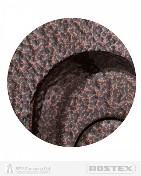 Фото 2 - Фурнитура защитная ROSTEX UNIVERSAL R mov-mov DIN PLATE 90мм Фарба коричнева антік 22мм 38-55мм 3клас Baryt BROWN Комплект.
