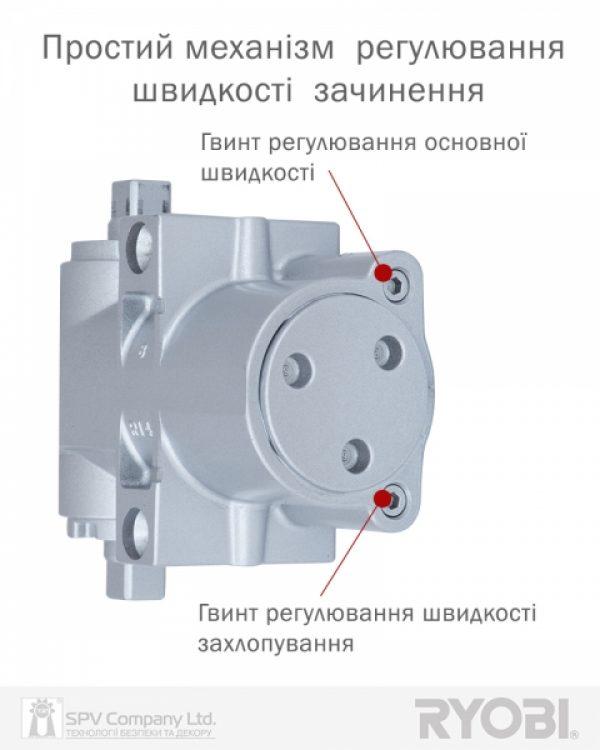 Фото 11 - Доводчик накладной RYOBI DS 4550-4550T SILVER BC/DA SLD HO ARM EN 1-4 до 80кг 1100мм.