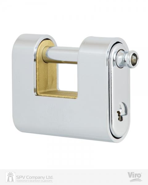 Фото 1 - Замок навесной VIRO PANZER 4117 3KEY 20мм 12мм BOX key profile patented.