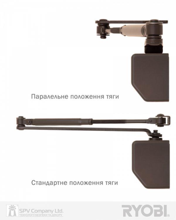 Фото 5 - Доводчик накладной RYOBI 2550 D-2550 DARK BRONZE BC UNIV ARM EN 1-4 до 80кг 1100мм FIRE.