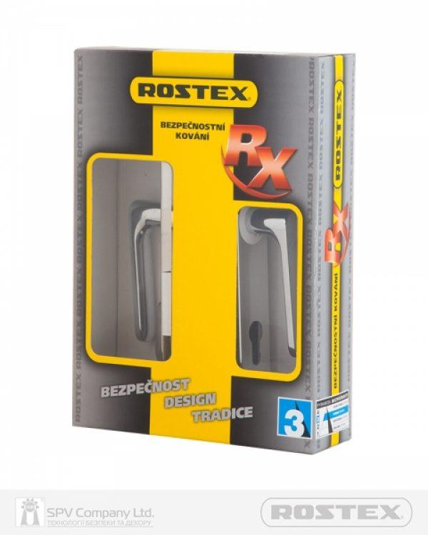 Фото 2 - Фурнитура защитная ROSTEX EXСLUSIVE RX-40 mov-mov DIN PLATE 90мм Хром полірований 22мм 40-50мм 3клас Exlcusive CR Комплект.