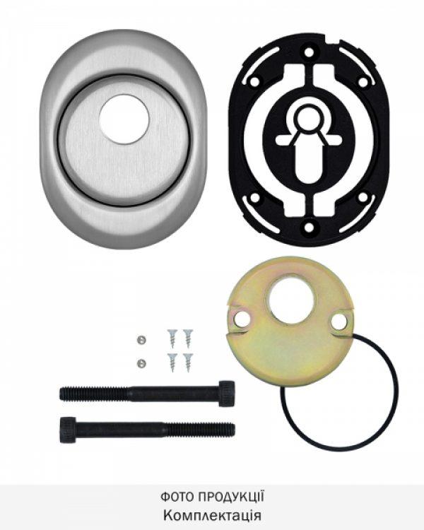 Фото 9 - Протектор DISEC CONTRO CD2000 DIN OVAL 21мм Нерж.сталь мат 3клас IT Внутренний, не регулируемый.