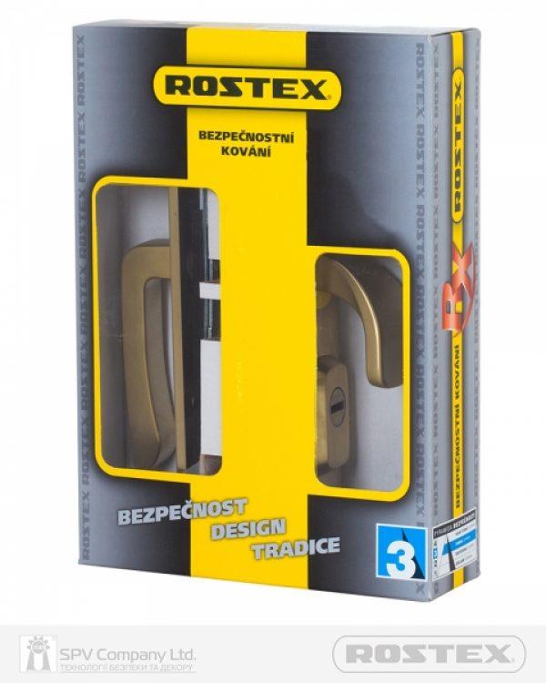 Фото 4 - Фурнитура защитная ROSTEX *ASTRA R fix-mov DIN PLATE 90мм Титан PVD мат 22мм 38-55мм 3клас Hranate/Astra TI MAT Комплект.