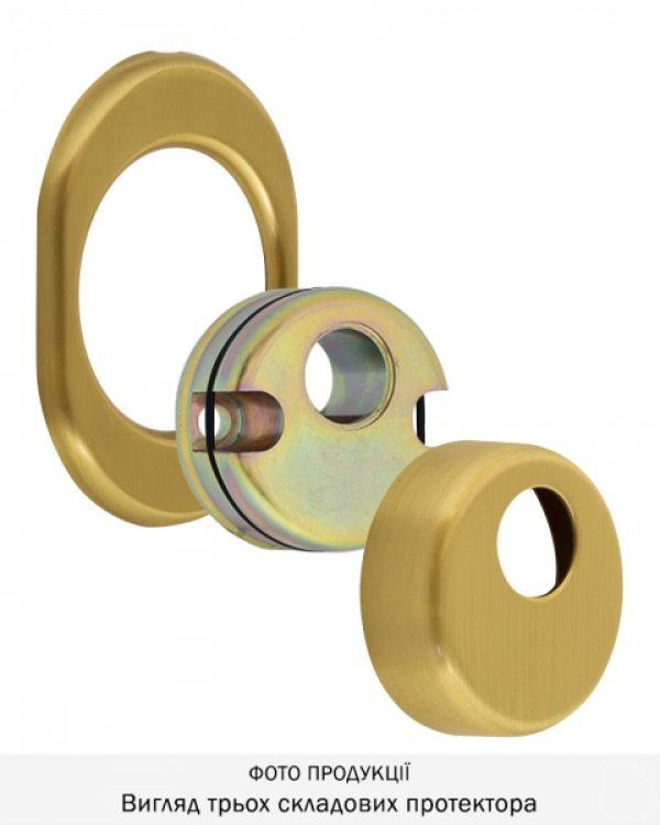 Фото 7 - Протектор DISEC CONTRO CD2000 DIN OVAL 21мм Латунь мат 3клас TT Внутренний, не регулируемый.