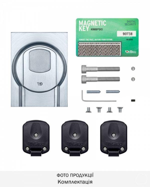 Фото 3 - Протектор DISEC MAGNETIC 4G MG3551Q DIN SQUARE 25мм Хром мат T 3KEY KM0P55 Внешний.