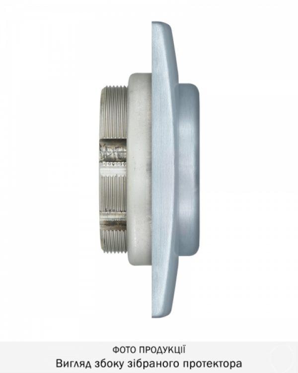 Фото 9 - Протектор DISEC MAGNETIC 3G 3G2WB DIN SQUARE 25мм Хром мат T 3KEY KM0P3G Внешний.