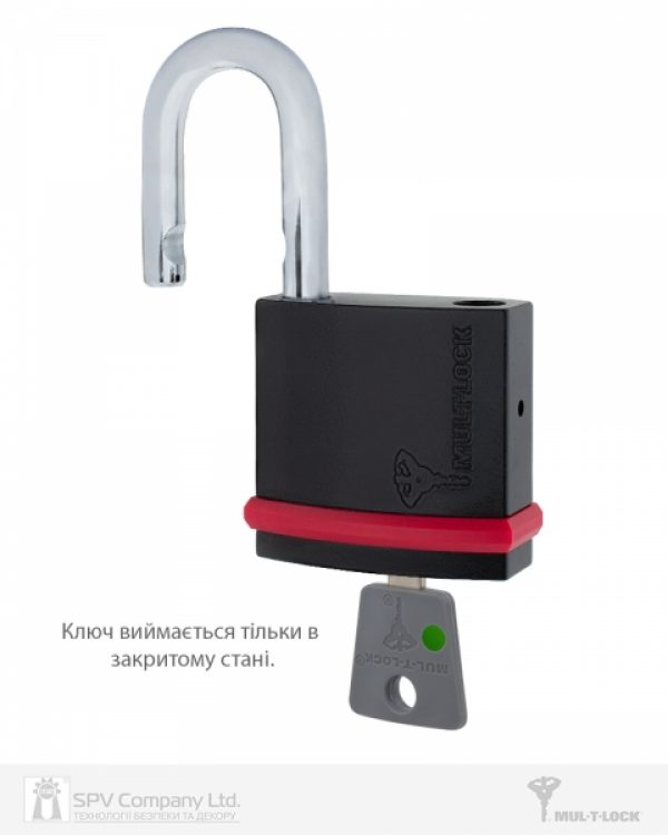 Фото 5 - Замок навесной MUL-T-LOCK NE8G 7x7 0767 3KEY DND77 GREY INS NR shackle 27мм 8мм BOX M.