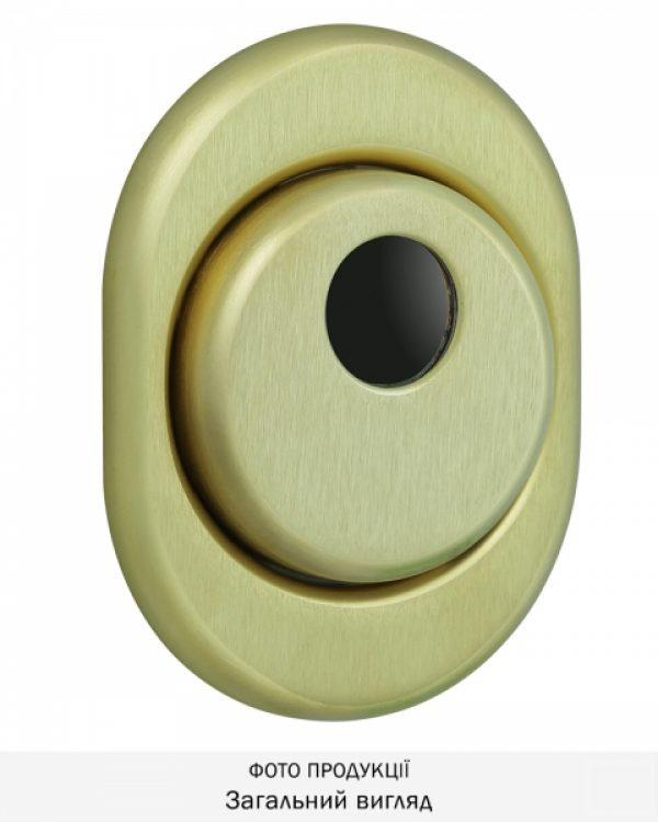 Фото 1 - Протектор DISEC CONTRO CD2000 DIN OVAL 21мм Латунь мат 3клас TT Внутренний, не регулируемый.