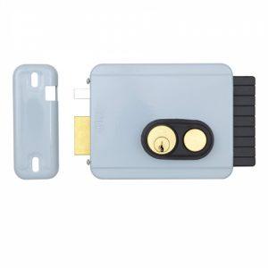 Фото 16 - Замок электромеханический VIRO V97 8972.0794.2 BS50/80мм L 12VAC NC CYL 3KEY GATE накладной, с кнопкой, внутреннего открывания GREY (UKR RIGHT T2).