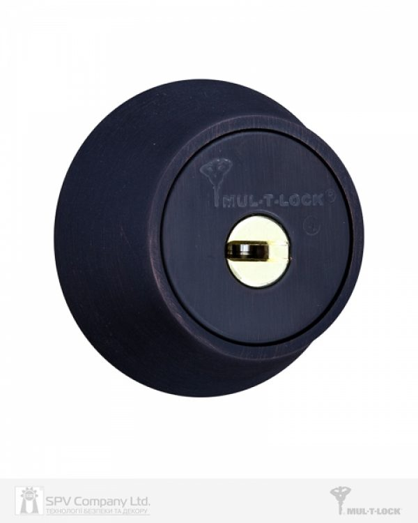 Фото 5 - Замок врезной MUL-T-LOCK 1-WAY DEAD BOLT HERCULAR BLACK DARK UNIV BS60/70мм *INTERACTIVE+ 3KEY DND3D BLUE INS 264S+ wood door SP.