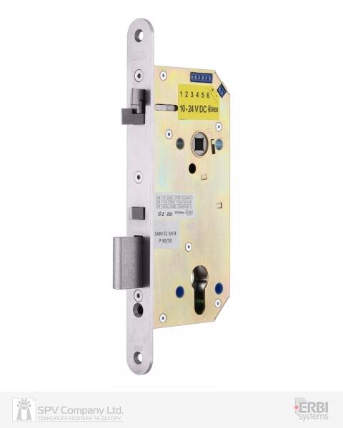 Фото 3 - Замок электромеханический ERBI SAM EL MI B P 9050 ВЅ50мм 90мм FP22 SS UNIV CZECH SOL 10-24V NC EI двусторонний контроль, с датчиками.
