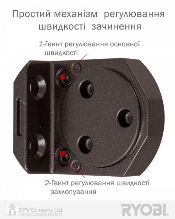 Фото 10 - Доводчик накладной RYOBI 3550 D-3550 DARK BRONZE BC/DA UNIV ARM EN 2-5 до 100кг 1250мм FIRE.
