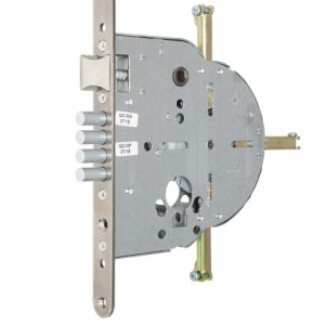 Фото 13 - Замок врезной MUL-T-LOCK 4-WAY DIN M265 CR UNIV ВЅ65мм 90мм with microswitch w/o SP.