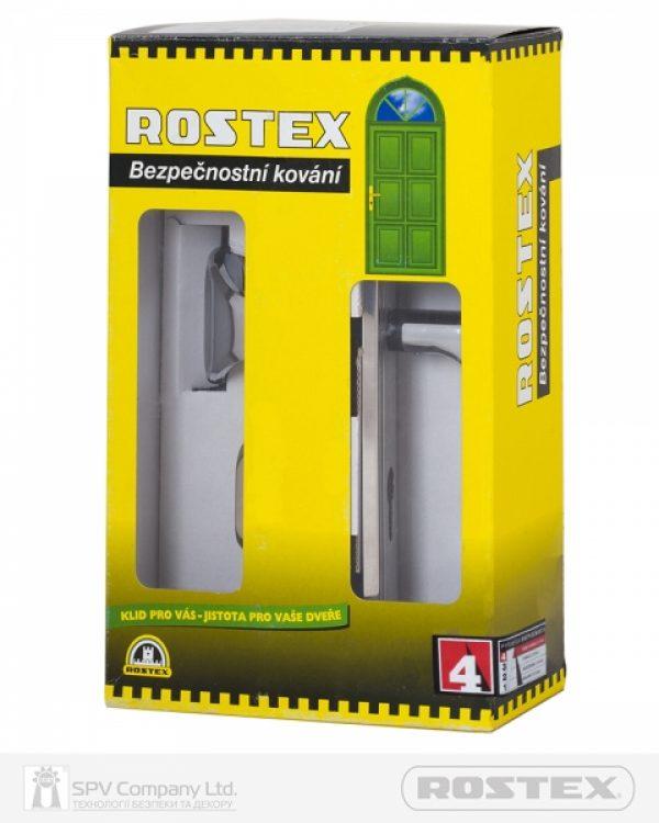 Фото 5 - Фурнитура защитная ROSTEX DECOR R fix-mov DIN PLATE 85мм Хром мат 23мм 40-45мм 4клас Ovalne/Baryt CR MAT Комплект.