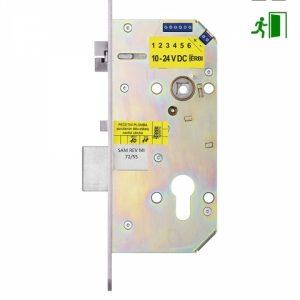 Фото 15 - Замок электромеханический ERBI SAM MI REV 7255 ВЅ55мм 72мм FP20 SS UNIV DIN SOL 10-24V NO PANIC FUNCTION EI односторонний контроль, с датчиками.