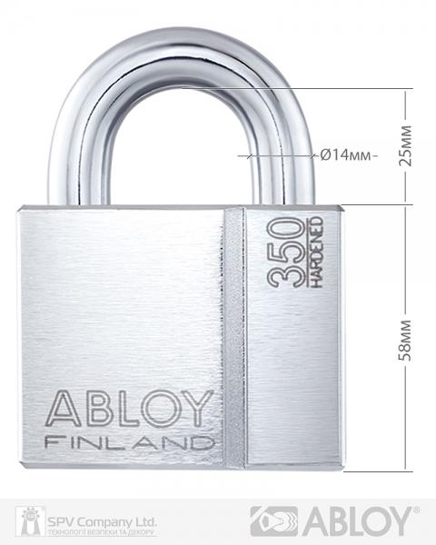 Фото 4 - Замок навесной ABLOY PL350 SENTRY BA66EE 2KEY STR B NR shackle 25мм BOX 14мм.