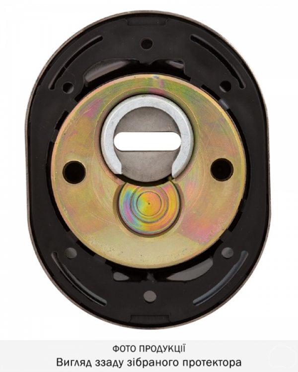 Фото 12 - Протектор DISEC SFERIK BDS16/4 DIN OVAL 25мм Хром чорний 3клас 8 Комплект.