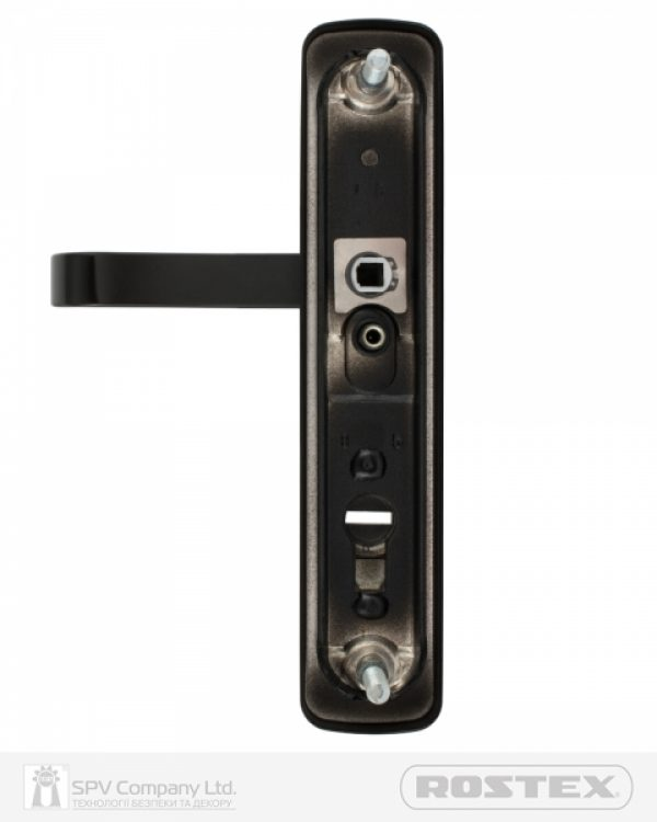 Фото 5 - Фурнитура защитная ROSTEX *ASTRA R mov-mov DIN PLATE 85мм Фарба чорна 22мм 38-55мм 3клас Astra BLACK MAT Комплект.