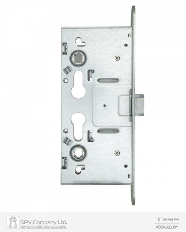 Фото 3 - Замок TESA врезной для активной створки CF69 (BS65 72мм Zinc) 9мм открывания снаружи только ключом, под установку снаружи фиксированной ручки.