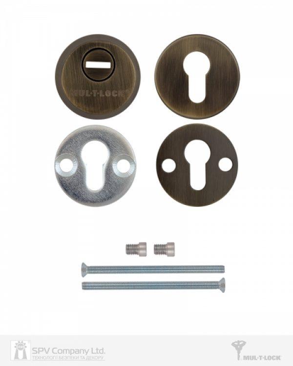 Фото 4 - Протектор MUL-T-LOCK SL3 DIN ROUND 14,5 мм 40-89мм Бронза антична 3клас ANTIQUE BRASS Комплект, М6х100.