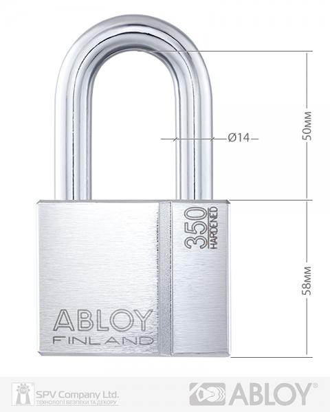 Фото 8 - Замок навесной ABLOY PL350 *PROTEC2 TA77ZZ M/S NR shackle 50мм 14мм BOX.