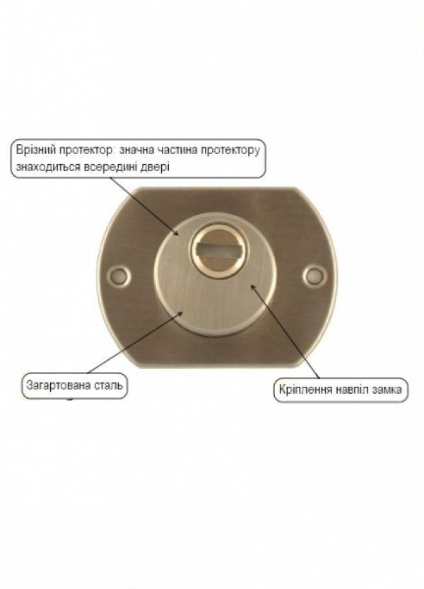 Фото 5 - Протектор MUL-T-LOCK EMK00104C DIN от 23мм Хром сатин CR SAT Внутренний.