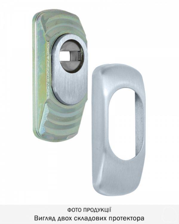 Фото 5 - Протектор DISEC GUARD SG16 DIN FOR WINDOW OVAL 25мм Хром мат 3клас T Комплект.