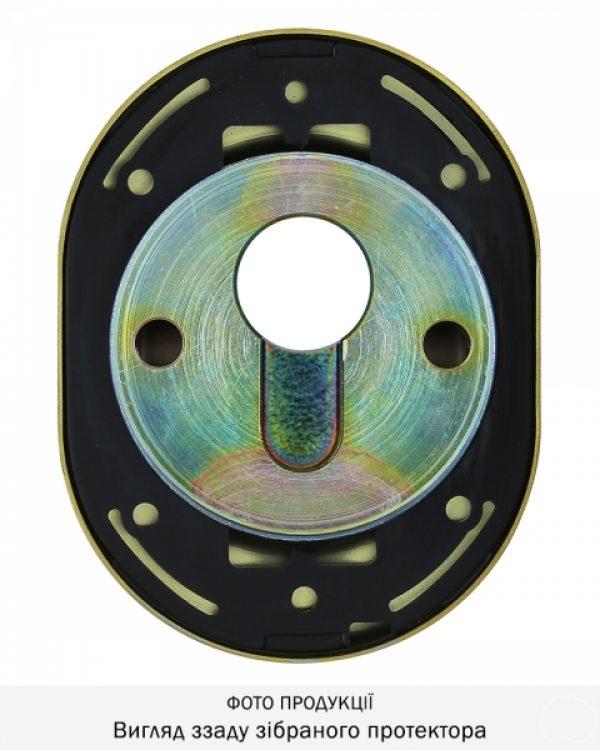 Фото 6 - Протектор DISEC CONTRO CD2000 DIN OVAL 21мм Латунь мат 3клас TT Внутренний, не регулируемый.