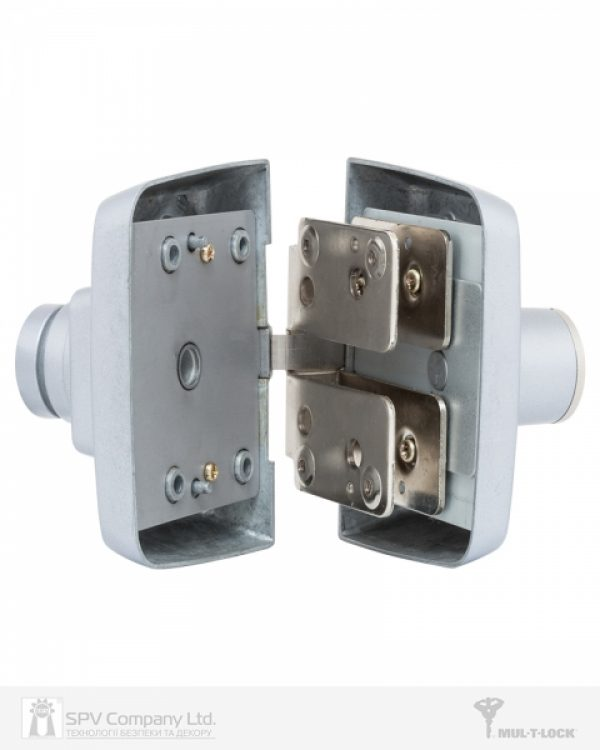 Фото 8 - Замок накладной MUL-T-LOCK 1-WAY RIM GDL-100S SATIN NICKEL UNIV *INTERACTIVE+ 3KEY ARC BLACK 264 w/o SP.
