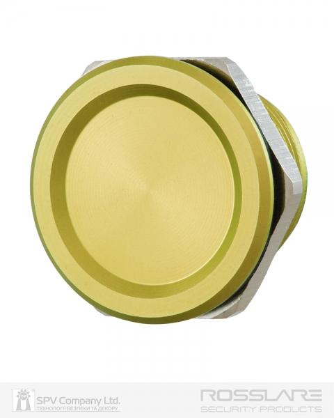 Фото 1 - Кнопка выхода ROSSLARE PX-13G наружная пьезо золота.