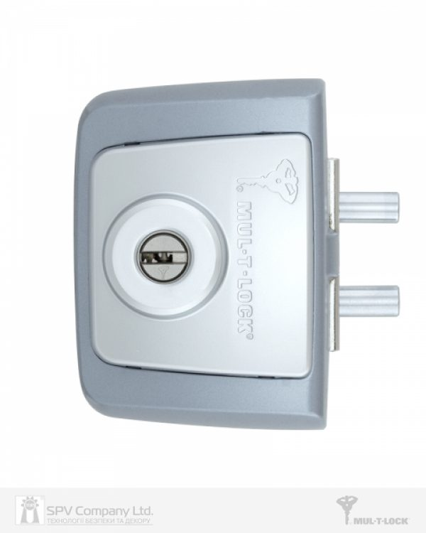 Фото 6 - Замок накладной MUL-T-LOCK 1-WAY RIM GDL-100S SATIN NICKEL UNIV *INTERACTIVE+ 3KEY ARC BLACK 264 w/o SP.