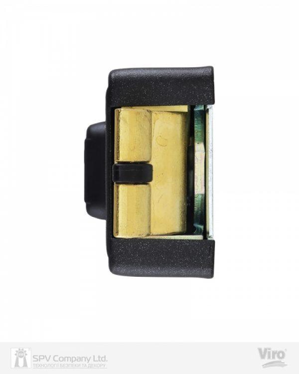 Фото 9 - Замок электромеханический VIRO V06 ВЅ70мм T1/T2 DIN 12VAC NC GATE накладной V96 BLACK открывание внутрь.