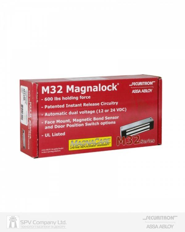 Фото 2 - Замок электромагнитный SECURITRON M32 FB M 12/24В накладной 272 кг для дверей, что открываются внутрь.