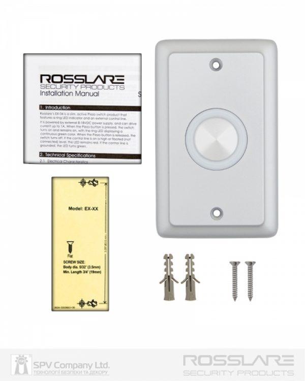 Фото 4 - Кнопка выхода ROSSLARE EX-0400 внутренняя пьезо.